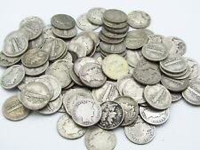 (100)ct Lot Of Mixed Silver Dimes Barber Mercury Roosevelt 90% Silver Coin B2