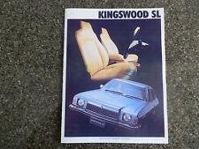 1977 HOLDEN HZ KINGSWOOD SL  BROCHURE.  100% GUARANTEE.