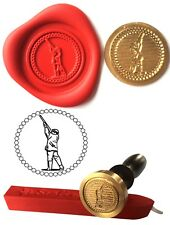 Wax Stamp, SHOOTING GAMEKEEPER Coin Seal and Red Wax Stick XWSC058-KIT