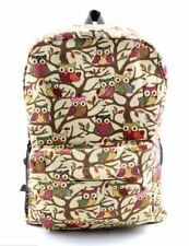 Cartoon Owl Backpack (Beige)