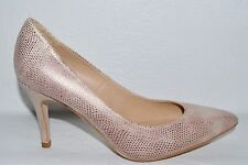 TOPSHOP SZ 36 5.5 M PINK SNAKE PRINT LEATHER PUMPS HEELS SHOES MADE IN SPAIN