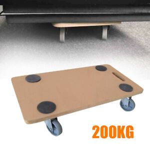Wood side Transport Roller Dolly Trolley 200kg Furniture Removal Platform Wheels