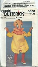 B 6350 child COSTUME sew PATTERN official TWEETY BIRD Looney Tunes 2-4,6-8,10-12