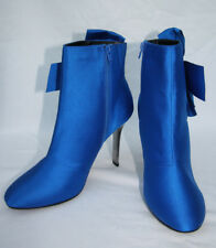Marks & Spencer UK Size 7.5 Eur 41 Blue Stiletto Heel Ankle Boots