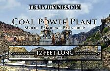 "TrainJunkies O Scale ""Coal Power Plant"" Model Railroad Backdrop 144""X24"""