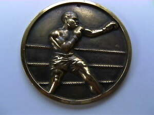 Boxing brass plaque