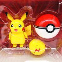 Pokemon Action Figure Poké Ball Pikachu Deformation Doll Child Gift Toy New Kids