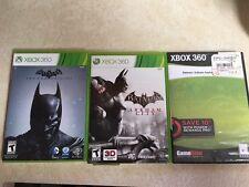 Batman: Arkham Origins (Microsoft Xbox 360, 2013) PLUS 2 OTHER BATMAN DISCS USED