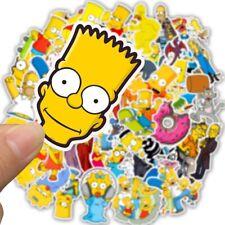 50Pcs New Cartoon Simpsons Kids Laptop Skateboard Waterproof Stickers Luggage