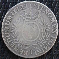 LOUIS XV ECU AUX BRANCHE D'OLIVIER 1727 T NANTES