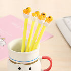 Kids Students Egg Yolk Shape Black Ink Ballpoint Pen Stationery Office Novelty
