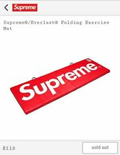 SUPREME Everlast Folding Exercise Mat Red NEW Boxing FW17 Authentic IN HAND