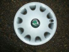 "13"" skoda wheel trim hub cap wheel cover, one, genuine,"
