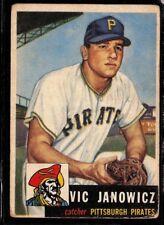 1953 TOPPS VINTAGE BASEBALL PITTSBURGH PIRATES VIC JANOWICZ CARD *222 GOOD SP