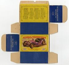Boîte copie repro MATCHBOX Y 7 1913 Mercer Raceabout ( reproduction box vide )