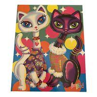 Vintage Lisa Frank Roxi & Rollie Kittens Folder Siamese Cats Pocket Portfolio