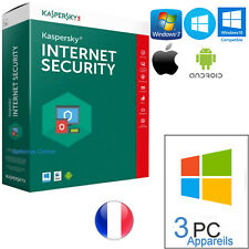 KASPERSKY INTERNET SECURITY 2018 3PC 1année originale - seulement par Email