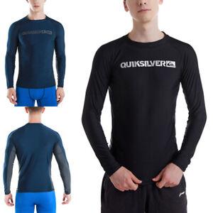 Men's Rash Guard Surfing Swimsuits T-shirts Long Sleeve UPF Beach Swimming Tops