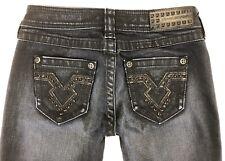 Affliction Women's Black Premium Jeans Raquel Skinny Fit Size 26x31 Distressed