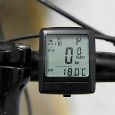 LCD Bike Bicycle Cycling Computer W/ Wireless Heart Rate Tester Chest Strap NEW