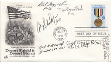 USA FDC Honouring Those Who Served Desert Shield Signed 5  Pilots (1 Women )& 1