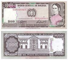 Bolivia 1000 Pesos 1982 P-167 Banknotes  UNC