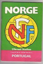 Orig.PRG   EM Qualif.  09.05.1979   NORWEGEN - PORTUGAL