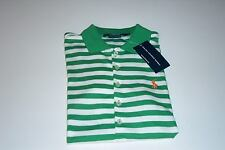 NWT POLO RALPH LAUREN LADIES SS GREEN & WHITE STRIPE POLO GOLF SHIRT SMALL PONY