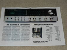 Harman Kardon 730 Receiver Ad, 1973, 2 pages, Specs, Inside View, Twin Power