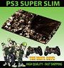 PLAYSTATION PS3 SUPER SLIM HORROR COLLAGE SEPIA EVIL SKIN STICKER & 2 PAD SKIN