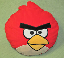 "16"" ANGRY BIRDS ROUND PILLOW PLUSH STUFFED ANIMAL LARGE RED CHARACTER HEAD TOY"