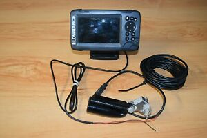 LOWRANCE HOOK 5 HDI FISH FINDER SCANER SONAR GPS WITH  TRANSDUCER