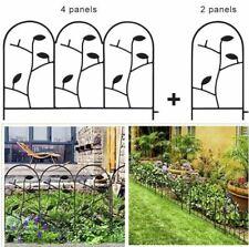 Garden Fence Border Iron Animal Barrier Black Metal Folding Wire Patio Fencing