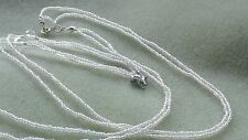 NECKLACE  double layer of pearlised seed beads with glass crystals & pendant A