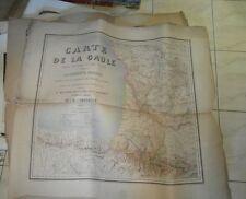 2 grandes CARTES ANCIENNES OLD MAP LA GAULE (FRANCE) 1869 PARTIES NORD SUD OUEST