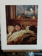 WHEN I GROW UP BY JIM DALY LITTLE BOY  DAYDREAMING IN BED DOG BASEBALL GLOVE