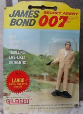 JAMES BOND vintage 1965 Gilbert figures carded rare LARGO