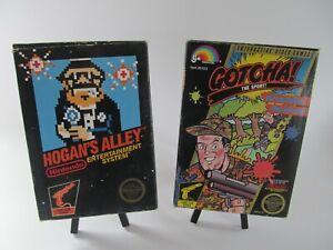 NES NINTENDO COMPLETE GAME LOT, BLACK BOX HOGANS ALLEY, GOTCHA +