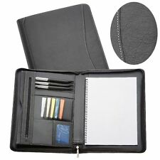 Full Grain Genuine Leather A4 Compendium Courier Included Quality Organiser