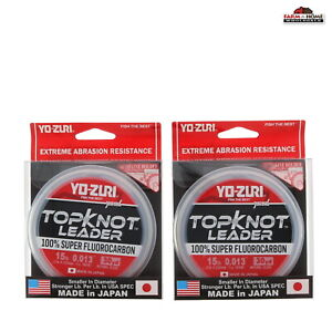 Yo-Zuri TopKnot Leader Fluorocarbon Natural Clear 30 Yards 15lbs ~ 2 Pack