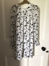 French Connection Size 10 Horse Print White Tunic Dress