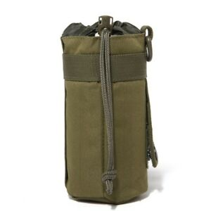 1× Outdoor Water Bottle Bag Military Molle Kettle Pouch Holder Camping Cycling