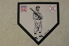 Napoleon Lajoie Cleveland Indians HOF Hand Painted MLB Schutt Home plate