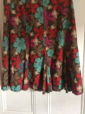 Ladies Boden Floral Skirt Size 12