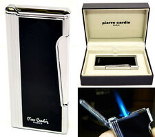Pierre Cardin Jet Flint Cigar Lighter - Black Lacquer & Chrome Finish (276-04)