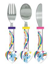 Girls - MLP My Little Pony Stainless Steel Cutlery Set Knife Fork Spoon
