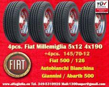 4 Cerchi Fiat Abarth 500 126 5x12 + Gomme 145/70-12 4x190 Wheels felgen jantes