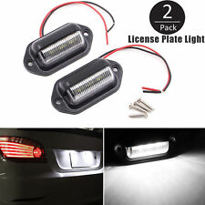2pc Universal 6-SMD LED License Plate Tag Lights Lamps for Truck SUV Trailer Van