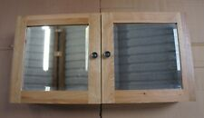 Solid Oak Double Door Mirror Wall Cabinet -Delivery Damaged - Sold to Clear