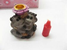 384 Assorted Resin Animal Candle Holder with Red Candle